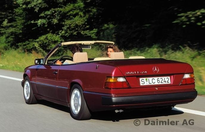 W124 series convertibles, 1991/1993