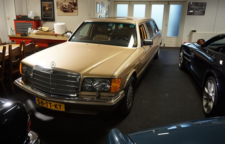 The 300 SEL that became a limousine.