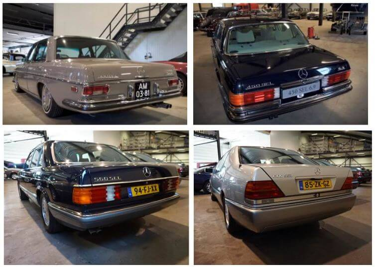4 Generations of the fastest Mercedes-Benz S-Class models.