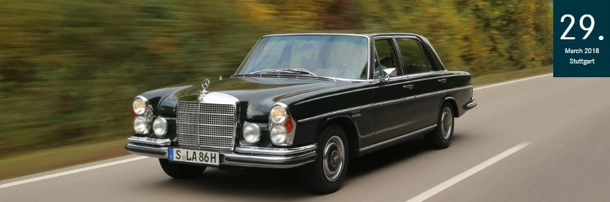World premiere of the Mercedes-Benz 300 SEL 6.3 in 1968: